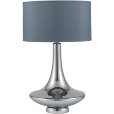 Glass Table Lamp - Grey