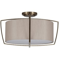 Flush Pendant Light Shade - Brass & Champagne