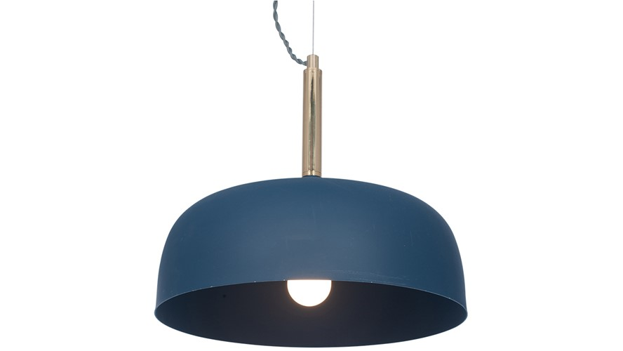 Domed Pendant Light Shade - Matt Indigo