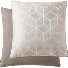 Geometric Cushion - Taupe