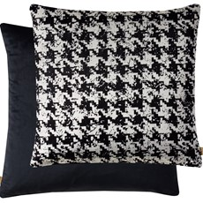 Geometric Square Cushion - Black