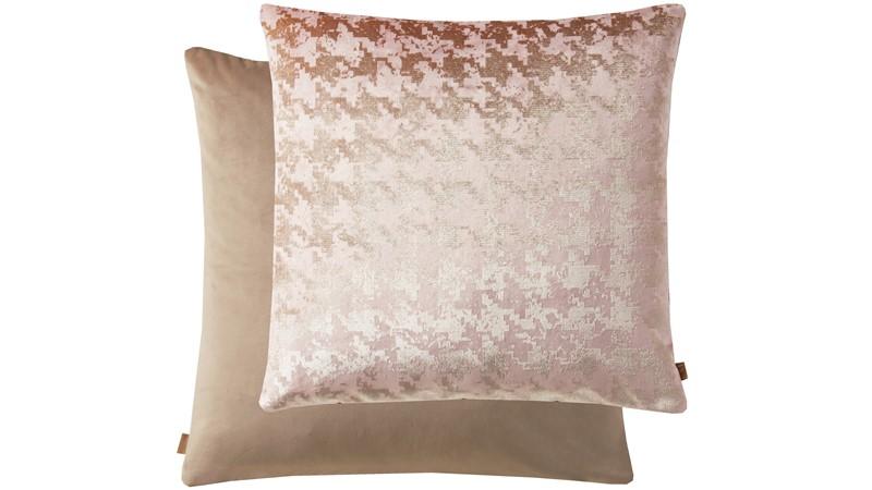 Kai Geometric Square Cushion - Mink