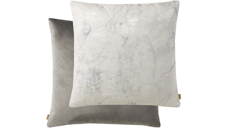 Marble Square Cushion Grey