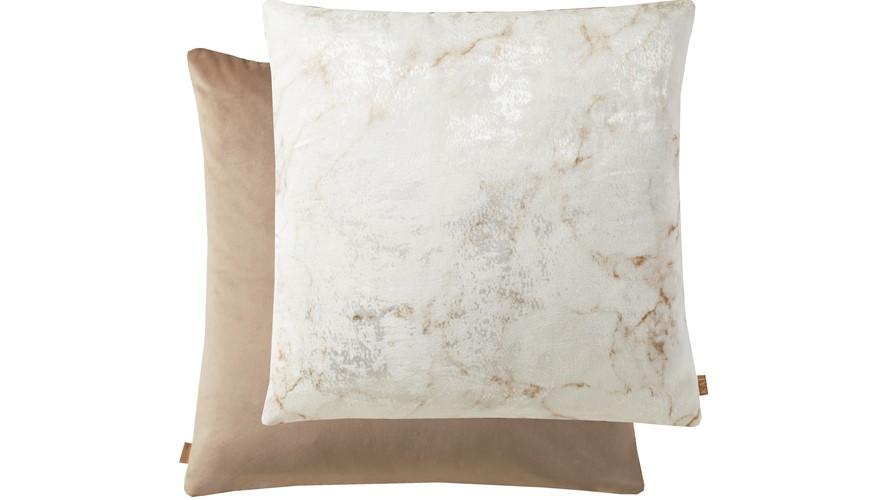 Kai Marble Square Cushion - Mink