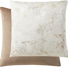 Kai Marble Square Cushion - Mink