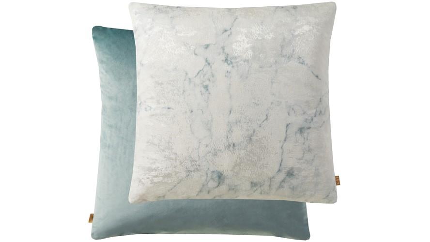 Kai Marble Square Cushion - Blue