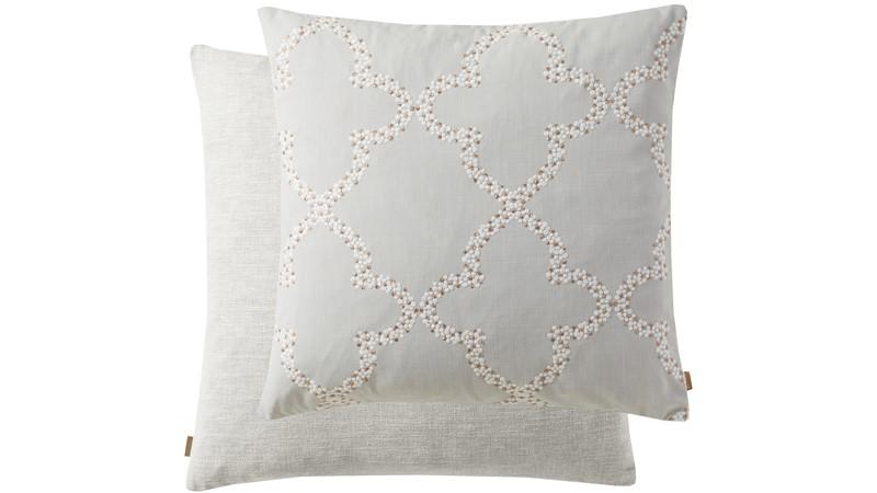 Kai Embroider Square Cushion - Grey