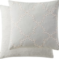 Kai Embroider Square Cushion - Grey