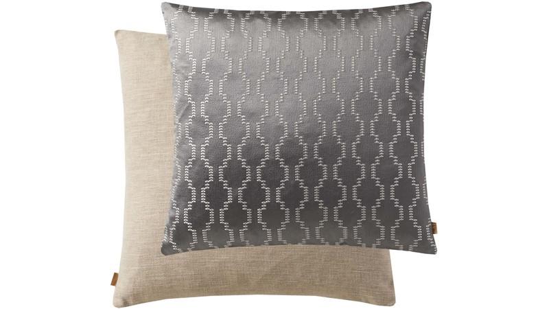 Geometric Square Cushion - Grey