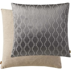 Geometric Square Cushion - Grey