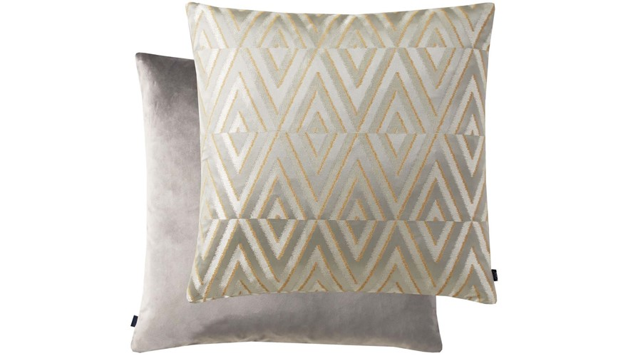 Geometric Square Cushion - Silver