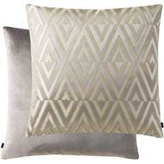 Geometric Square Cushion - Silver
