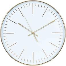Round Wall Clock - Gold & White