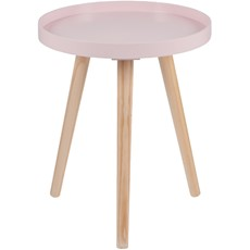 Round Pine Table - Pink