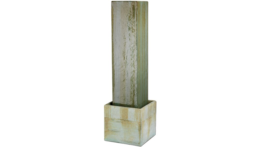 Concrete Square Pillar Outdoor Fountain
