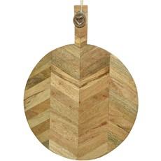 Round Mango Wood Chopping Board - Natural