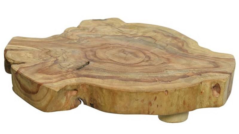 Teak Decorative Plate - Natural