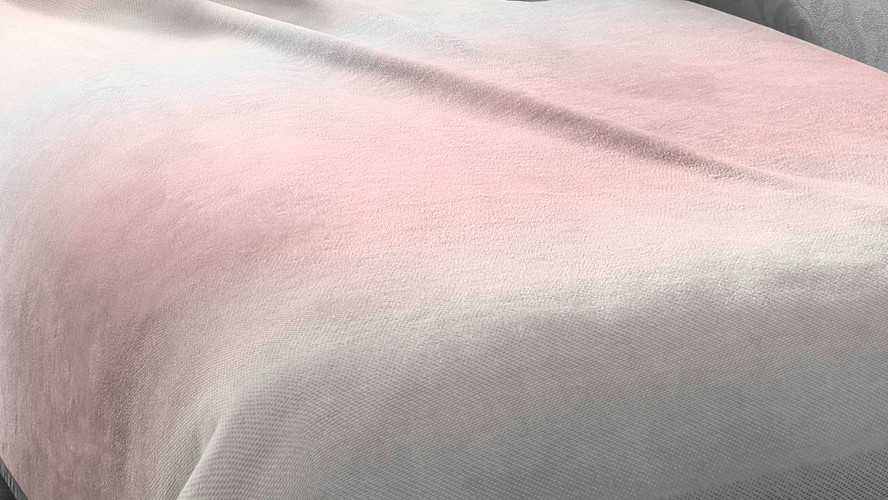 Lotus Pink Ombre Throw