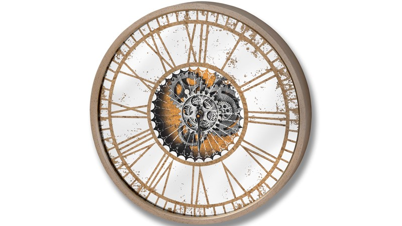 Round Mirrored Wall Clock