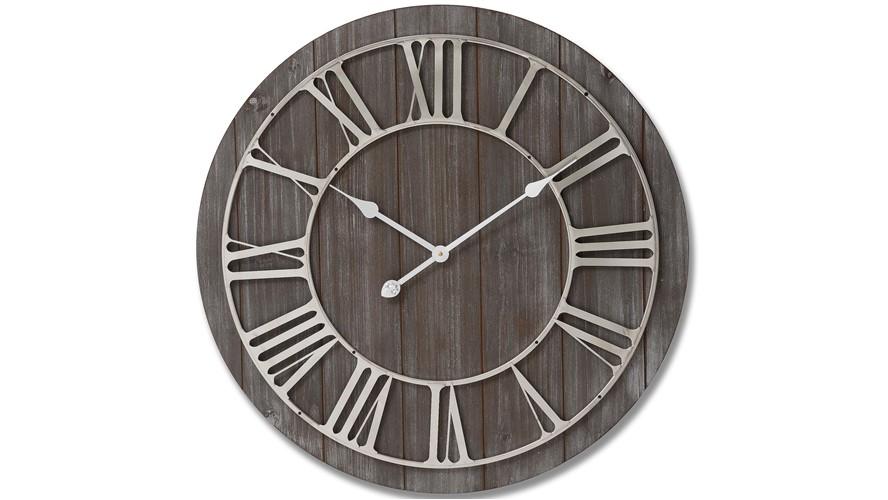 Wooden Nickel Detail Wall Clock