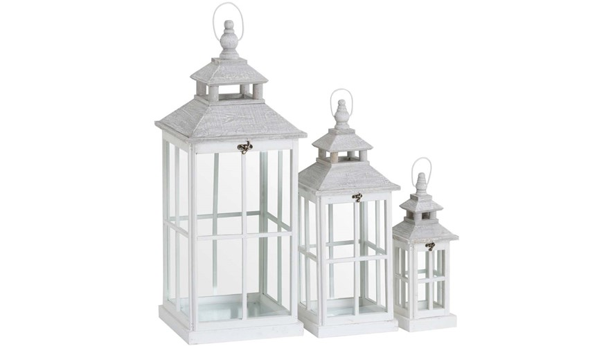 Open Top Lanterns - White