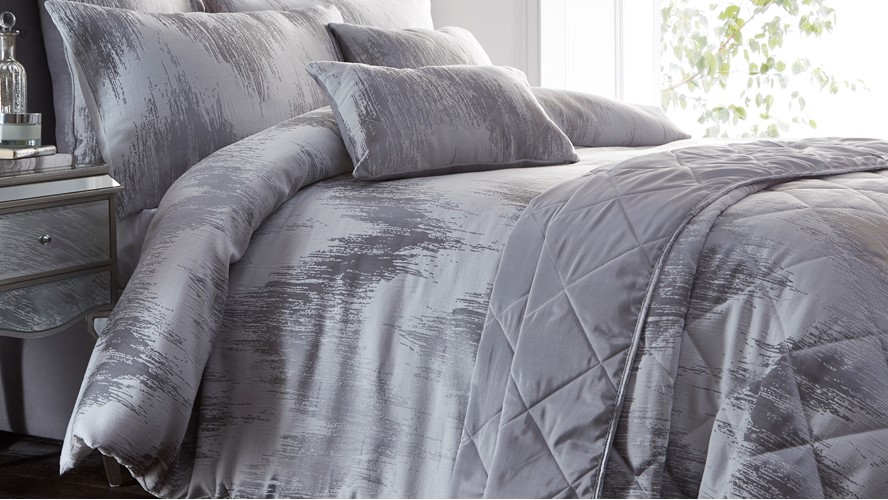 Quartz Boudoir Cushion - Silver