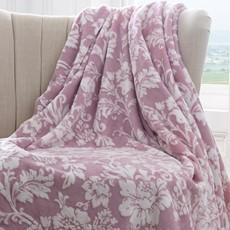 Pascal Floral Fleece Throw - Lavender