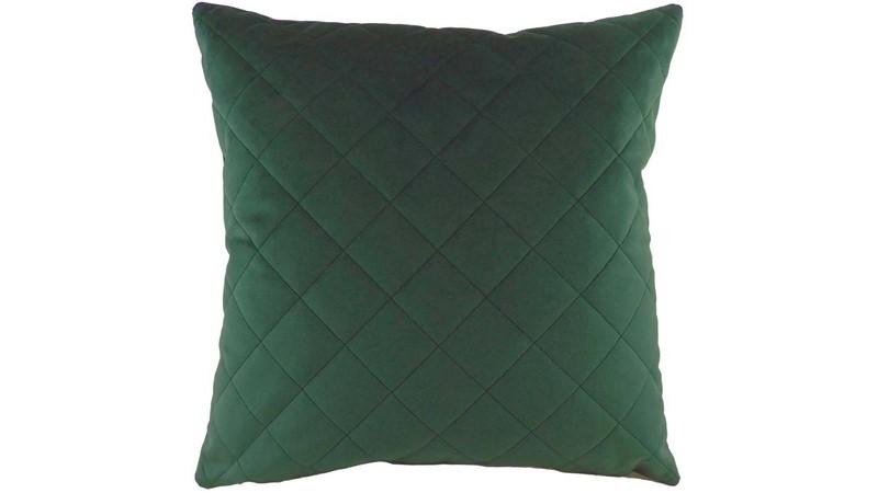 Diamond Square Cushion - Dark Green