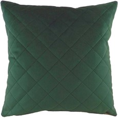 Diamond Square Cushion - Dark Green