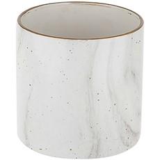 Ceramic Speckled Pot Vase - White