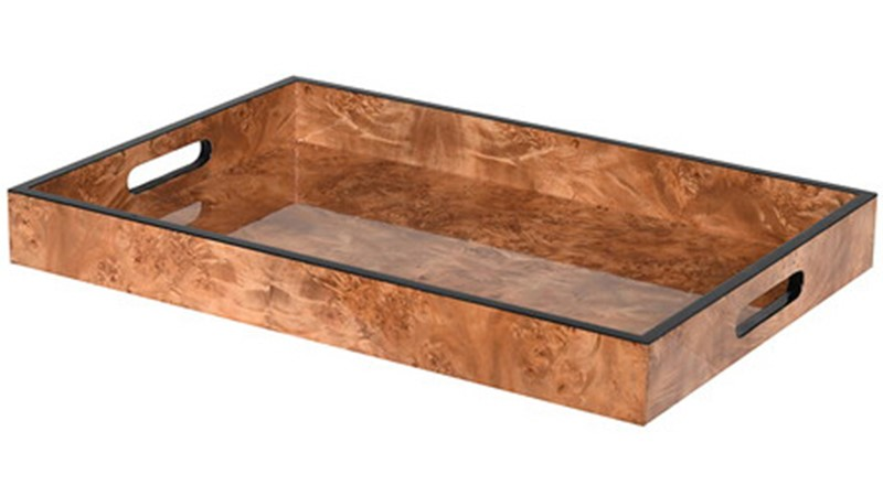 Marble Effect Tray - Brown