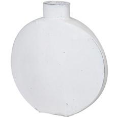 Ceramic Round Vase - White