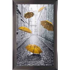 Yellow Umbrella Framed Print