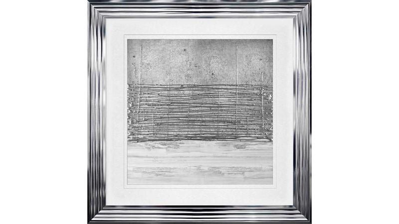 Horizon Framed Print - White & Silver