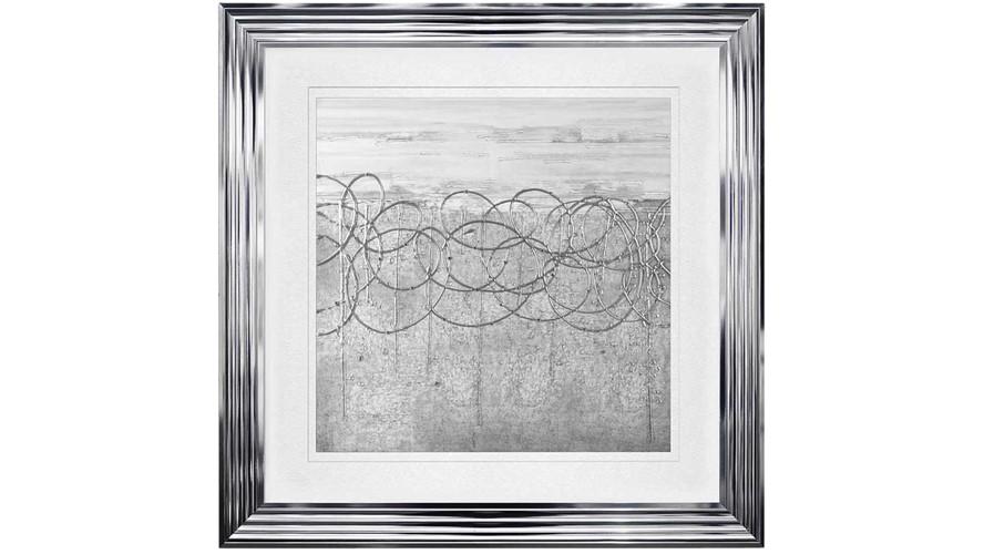 Storm Framed Print - White & Silver