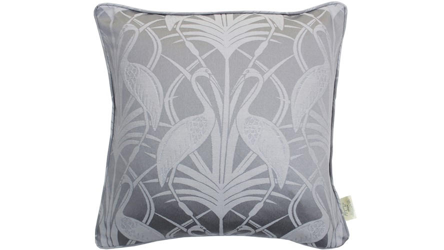 Chateau Deco Heron Square Cushion - Grey