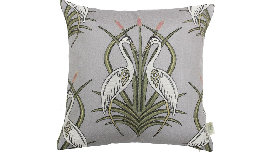 Chateau Heron Square Cushion - Moat Grey
