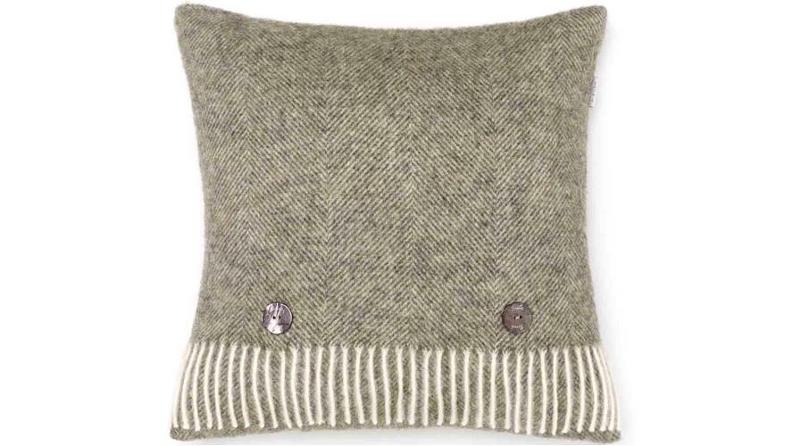 Herringbone Vintage Cushion - Grey