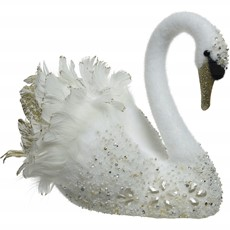 Swan Glitter Feathers