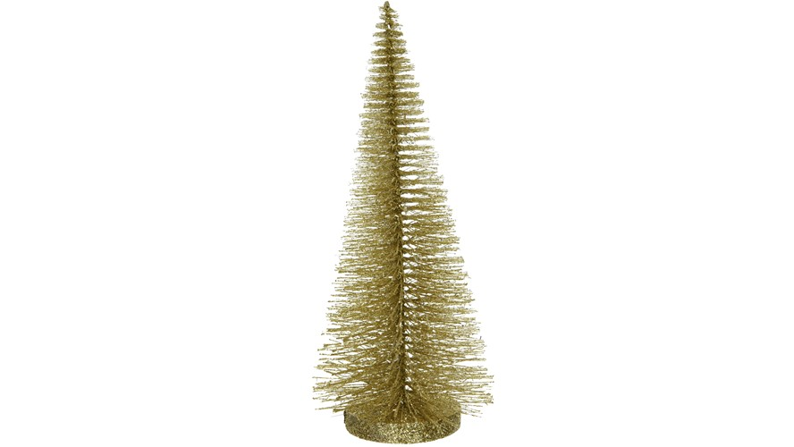 Narrow Glitter Tree- Gold