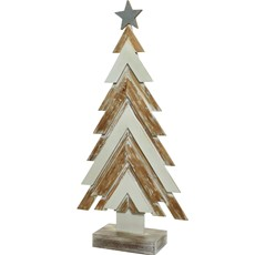 Firwood Tree & Star - White Washed