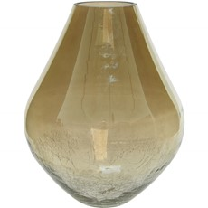 Fading Luster Crackle Glass Bulb Vase