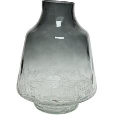 Fading Crackle Bottom Glass Vase