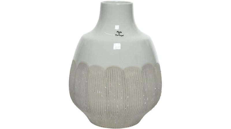 Brush Stripes Earthenware Vase