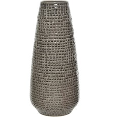 Structured Earthenware Vase - Taupe