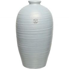 Structured Rim Terracotta Vase - White