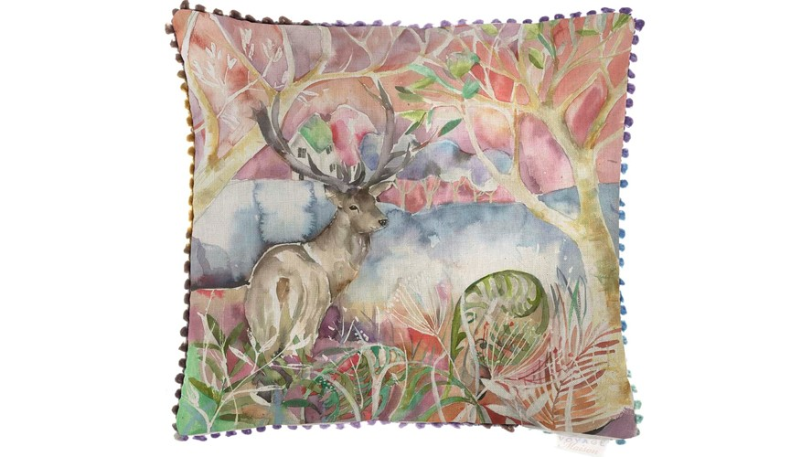Wandering Stag Square Cushion