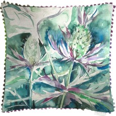 Velvet Sea Thistle Square Cushion