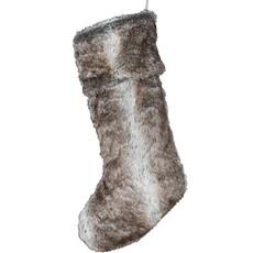 Xmas Snow Stocking - Brown