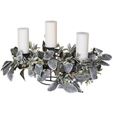 Eucalyptus & Mistletoe Table Decoration - Frost